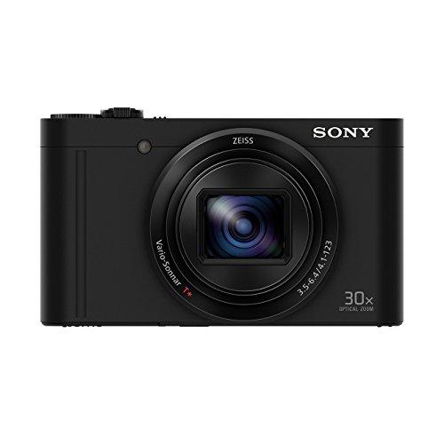 "Sony Cyber-Shot DSC-WX500 - Cámara compacta de 18 Mp (pantalla de 3"", zoom óptico 30x, sensor Exmor R, pantalla para selfies, Wi-fi / NFC), negro: SONY"