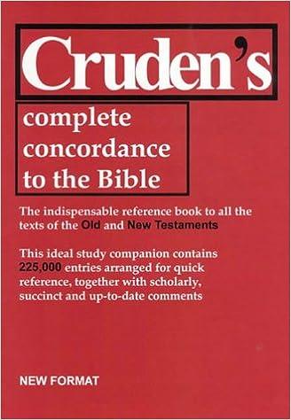 Book Cruden's Complete Concordance to the Bible (Concordances)