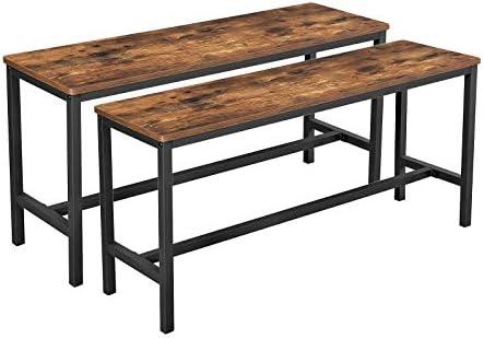 VASAGLE ALINRU Table Benche