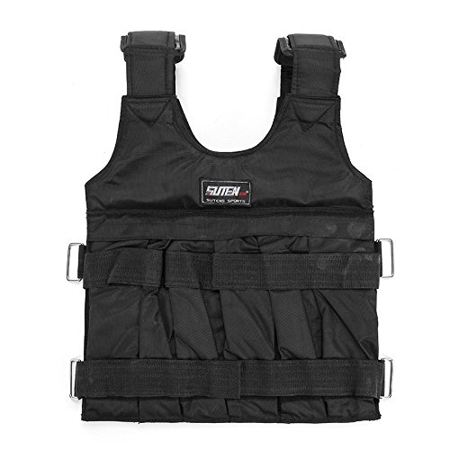 Black-Adjustable-Weight-Training-Jacket-Weight-Vest-Workout-Weighted-Vest-Exercise-Fitness