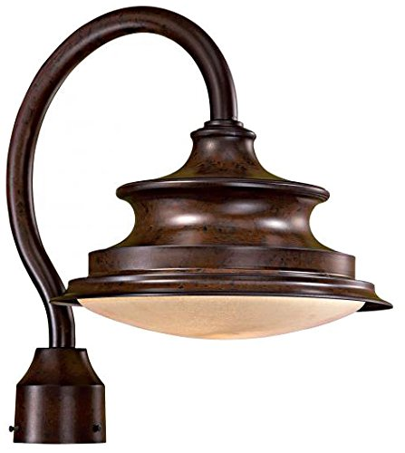 Minka Lavery 8126-A188-PL Vanira Place 1 Light Post Mount, Windsor Rust - Great Place Outdoors Vanira