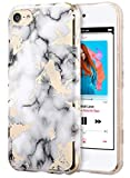 UrbanDrama iPod Touch 6 Case, Touch 5 White Marble Pattern Clear Slim Fit Anti-Scratch Soft TPU & PC Protection Case for iPod Touch case 6th Generation/iPod Touch 5, White Marble