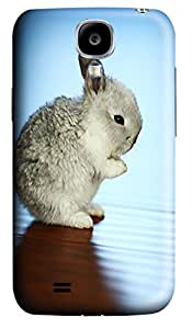 Flat Nosed Bunny Animal Polycarbonate Hard Case Cover forSamsung Galaxy S4 I9500