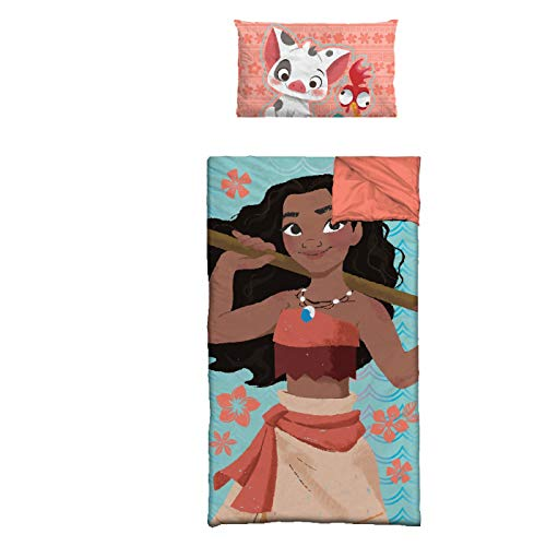 Disney Moana Slumber Bag with Pillow, Blue (Pack of 1) TK320678T