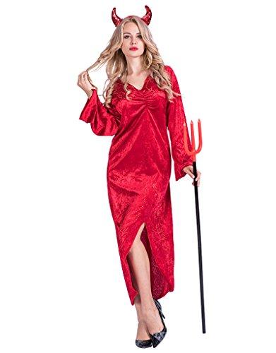 Devil Halloween Costumes For Women (EraSpooky Women's Red Devil Halloween Costume(Red, Large))