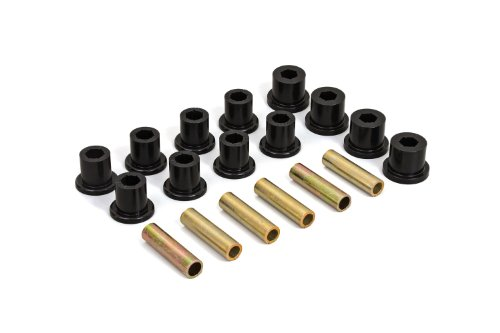 Daystar, Jeep CJ Polyurethane Spring Shackle Bushings Front, fits CJ5/7/8 1976 to 1986 4WD, KJ02002BK, Made in America, Black (1986 Jeep Cj7 Shackles)