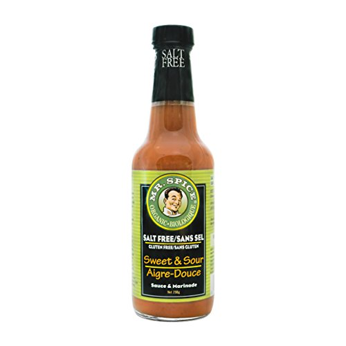 Sugar Soy Sweet - Mr. Spice Organic Sweet and Sour Sauce - Salt-Free - Fat-Free - Gluten-Free - Vegan