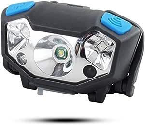 Linterna Frontal LED Linterna de Cabeza USB Recargable Luz ...