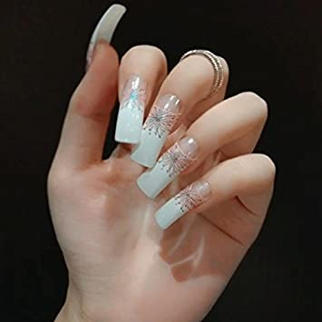 Long sexy silver fingernails