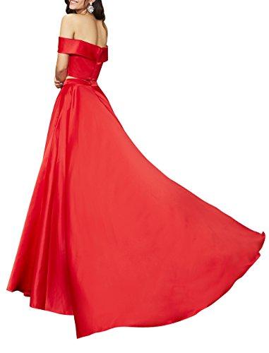 mia Kurzarm Zwei Satin Brau Abschlussballkleider Lang Abendkleider Linie Gruen Partykleider La Brautmutterkleider A Jaeger Teilig SxRTFdqwq