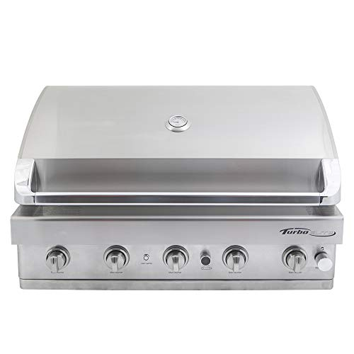 Barbeques Galore Turbo Elite 5-Burner Built-in Gas Grill – Natural Gas