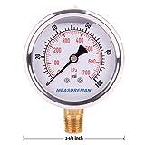 "Measureman 2-1/2"" Dial Size, Glycerin Filled"