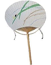 Oriental Cotton&Linen Print Decor Embroidery Handheld Round Summer Fan - Glowworm,A1