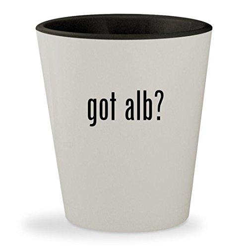 got alb? - White Outer & Black Inner Ceramic 1.5oz Shot Glass