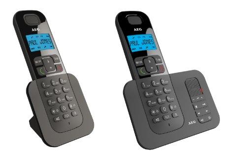 AEG 541031 VOXTEL D505 Twin schnurloses DECT-Telefon mit zusätzlichem Mobilteil und Anrufbeantworter