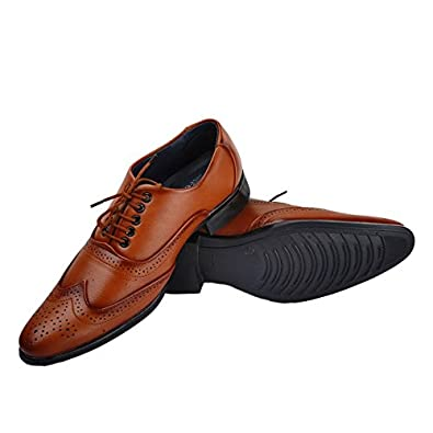 0404d1f9966f4 Exclusive Brown Color Formal Office Shoes For Men Porous Body Lace