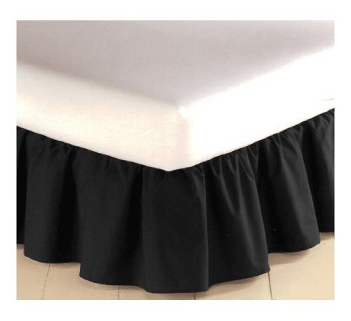 Mainstays Twin Bedskirt - Black - 180 Thread Count