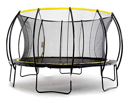 SkyBound Stratos 15 Foot Trampoline with Updated Safety Net & Top Ring for 2019 - Exceeds ASTM Safety Rating Construction - Built to Last