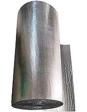 Noppenfolie Isolatie, Zelfklevende Aluminiumfolie, Dampscherm En Waterdichte Reflector Noppenfolie, Vloer Zoldermuur Boot Camper Schuur(Size:1x20m/3.2x65.6ft)