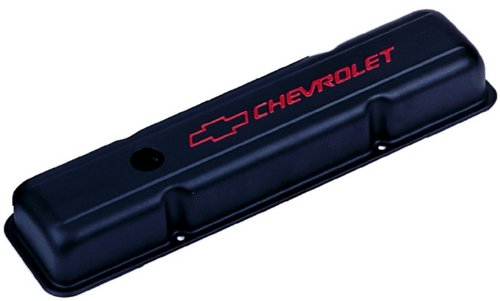 Proform 141-750 Heavy-Gauge Stamped Steel Short Stamped Valve Cover (Valve Short Chevy Cover)