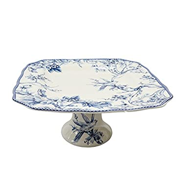 222 Fifth Adelaide Blue 11  Cake Plate