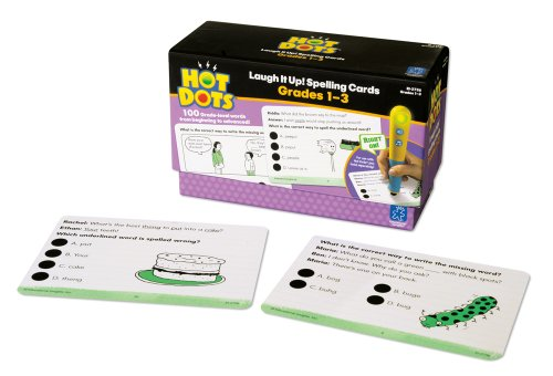 Educational Insights Hot Dots Laugh It Up! Spelling Set- Grades 1-3