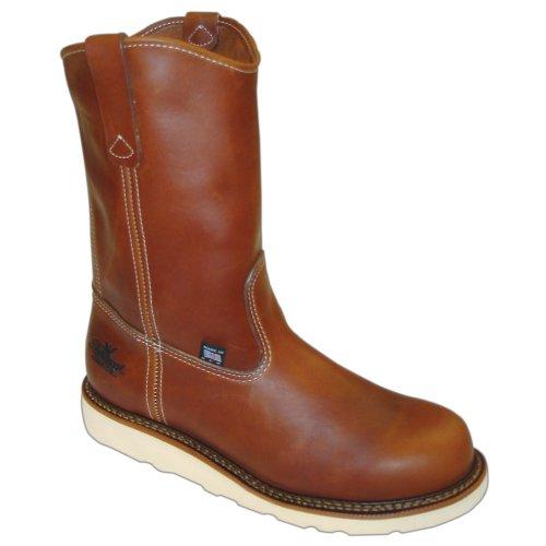 Men's Thorogood 8 inch Steel Toe Wedge Wellington Boots Brow
