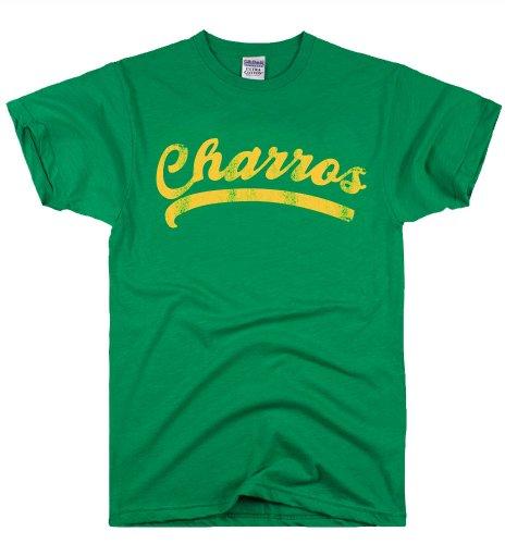 Kenny Powers Costume (DirtyRagz Men's Charros Kenny Powers Jersey Funny T Shirt XL Green)