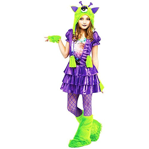 [Galaxy Girl Alien Kids Costume (Large (12-14))] (Aliens Costume)