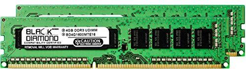 (8GB 2X4GB RAM Memory for Compaq ProLiant BL460c G6 Server Blade Black Diamond Memory Module 240pin PC3-12800 1600MHz DDR3 ECC UDIMM Upgrade)