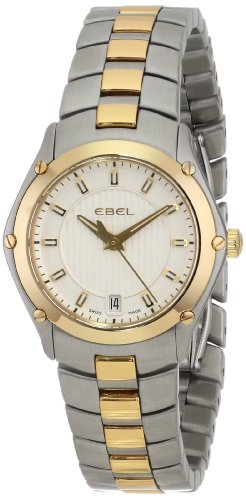 EBEL Women's 1216028 Sport Stainless Steel and 18k Gold Dress Watch