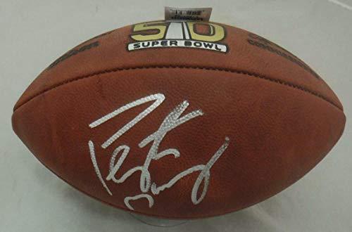 Peyton Manning Autographed Denver Broncos SB 50 Duke Football Steiner