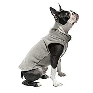 Gooby Fleece Vest Dog Sweater – Warm Pullover Fleece Dog Jacket with Leash Attachment – Winter Small Dog Sweater Coat…
