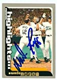 Wade Boggs autographed Baseball Card (Tampa Bay Devil Rays) 2000 Topps #458 Highlight 3000th hit