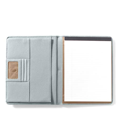 - Leatherology Deluxe Portfolio - Full Grain Leather Leather - Mist (Blue)
