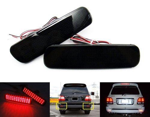 (LEDIN 8191060111 OEM Replacement Black Smoked Lens LED Bumper Reflector Tail Brake Stop Light for LX470 Land Cruiser)