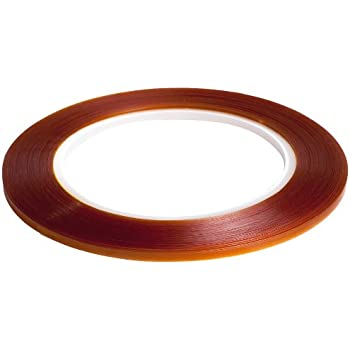 """Bertech 1/4"""" Wide x 36 Yards Long Double Sided Polyimide Tape, 4 Mil Thick on a 3"""" Core"""