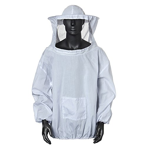 Winnerbe Beekeeping Suit Jacket Veil and Bee Hat Dress Smock Equip Protection