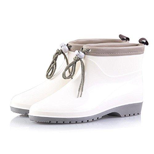 Europe and America Fashion Rain Boots Pvc Ms. Warm Rain Shoes White VGdZ4v