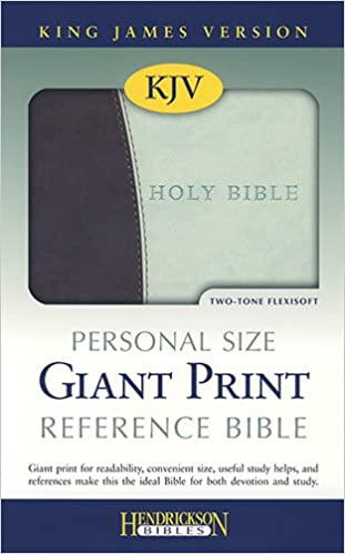 Book Holy Bible: King James Version, Chocolate/mint, Flexisoft Leather, Personal Size Giant Print Reference Bible