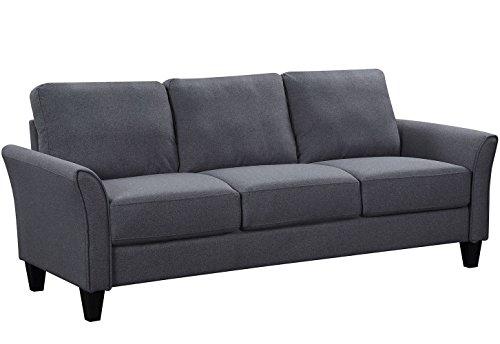 Harper&Bright Designs Sectional Sofa Set 3-Seat Sofa and Loveseat Sofa (Grey)