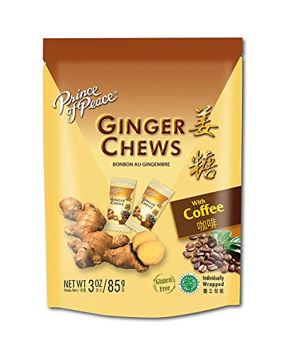 - 5 Packs of Prince Of Peace 100 Percent Natural Ginger Candy Chews With a Pair of Hot Pot Dish Holder (Coffee, 3oz)