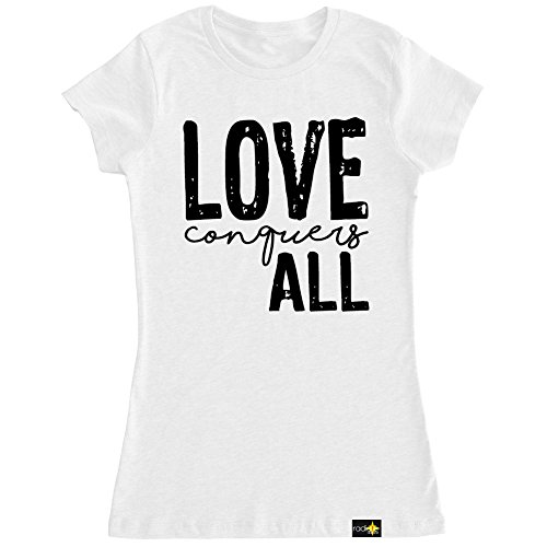 Radiate Apparel Women's Love Conquers All T Shirt-XL White by Radiate Apparel (Image #2)