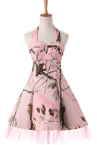 Sunvary Pink Camo Short Maxi Holiday Girls Bridesmaid Dresses Homecoming Size 14- (Pink Camo Dress)