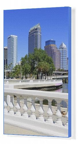 Arte en lienzo de Tampa diseño y lineales Park, Tampa, Florida ...