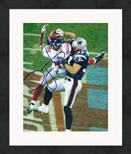 Super Bowl Nfl Autographed (Autographed David Tyree Photograph - 8x10 The Super Bowl XLII Catch #2 Matted & Framed - Autographed NFL Photos)