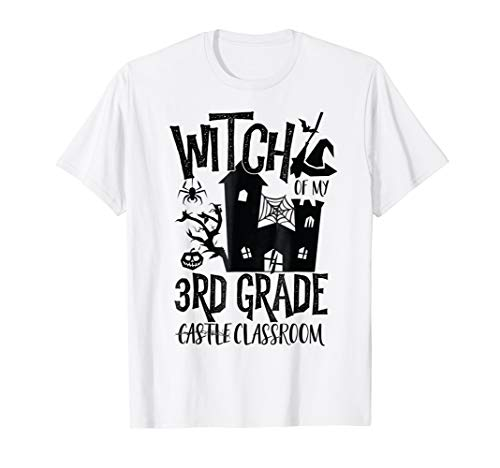 Halloween Teacher Witch T-Shirt 3rd Grade