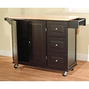kitchen island with drawers and cabinets mobile portable kitchen cart cabinet storage 9434