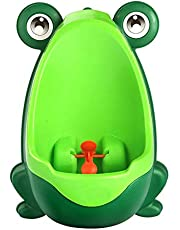 Kid Baby Potty Toilet Training Cute Frog Shaped Bathroom Urinal Boys Pee Trainer (Green)