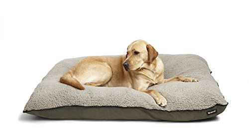 Big Shrimpy Bogo Premium Dog Bed, Large, Stone – Water Resistant Nylon Recycled Smartfill – Machine Washable Dog Bed with 100% Recycled Polyester Fiber Filling, For Large Dogs
